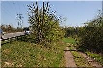 SO8551 : Track below the Carrington Bridge by Philip Halling