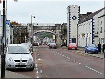 D2818 : Carnlough, Harbour Road and Limestone Bridge by David Dixon
