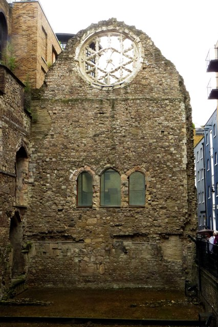 The ruins of Winchester Palace in Clink Street