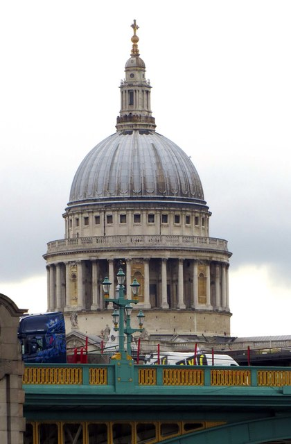 The dome of St Paul's Cathedral from Bankside