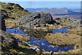 SH8624 : Pool near summit of Aran Benllyn by Andrew Hill