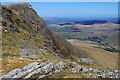 SH8624 : Eastern crags of Aran Benllyn by Andrew Hill