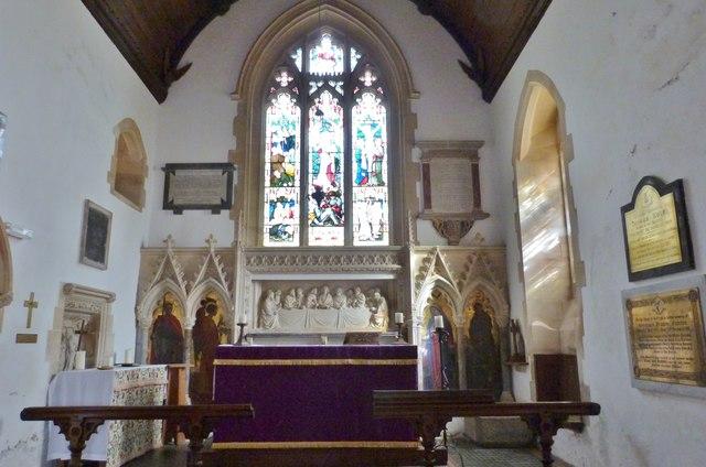 Interior of St Georges Church, Georgeham, Devon