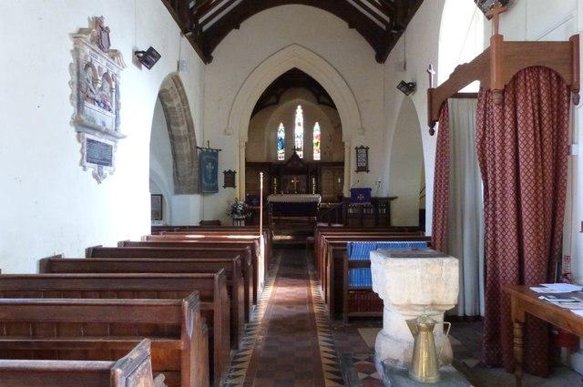 The Nave,  St Calixtus Church, West Down, Devon