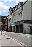 ST1599 : Shuttered High Street shop, Bargoed by Jaggery