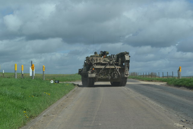Tank in the road!