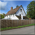 TL4346 : Thriplow: Goward's Farmhouse - rear by John Sutton
