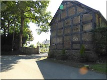 SJ3335 : Gable end of the old barn at Plas Wiggin by Eirian Evans