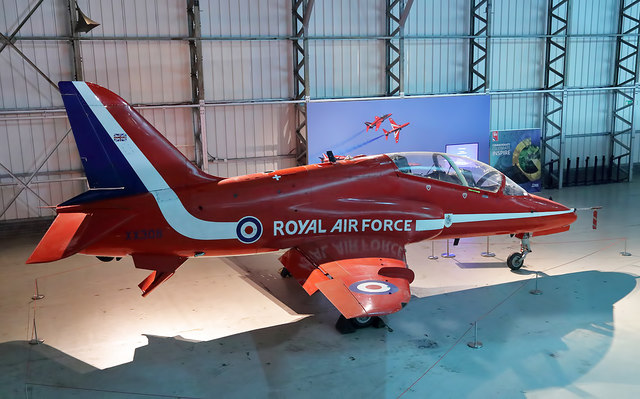A Red Arrows Hawk at the Museum of Flight at East Fortune