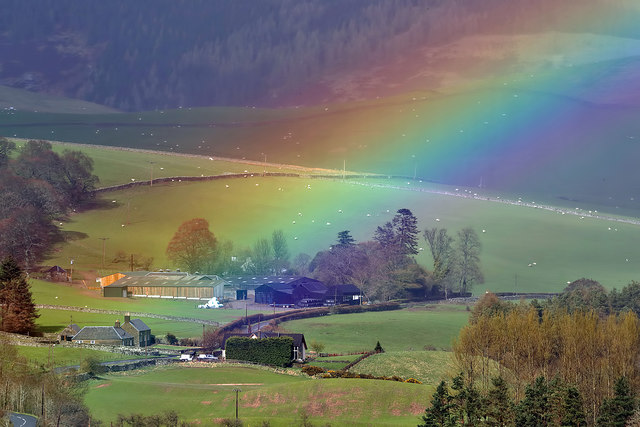 A rainbow at Tinnis Farm in the Yarrow Valley