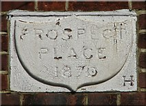 TM3698 : Prospect Place - date stone by Evelyn Simak