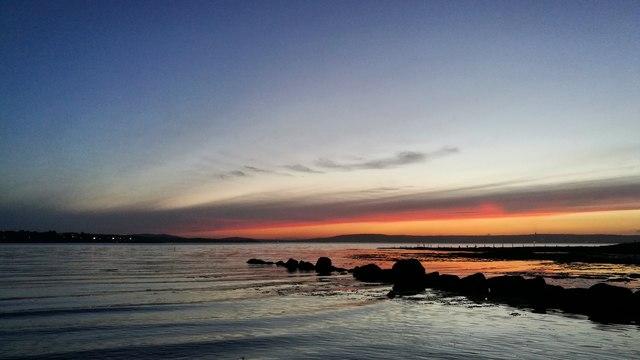 Sunset, Ballyholme Beach