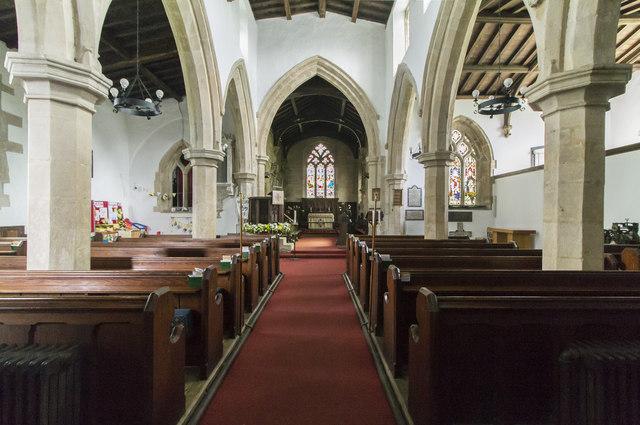 Interior, Ss Peter & Paul church, Market Overton