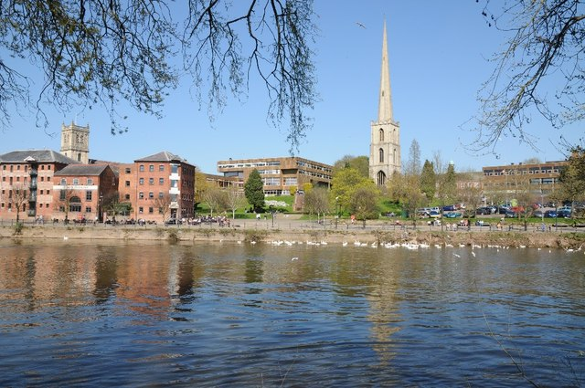 ed1d5e23ab3ea Worcester viewed from across the River... © Philip Halling cc-by-sa ...