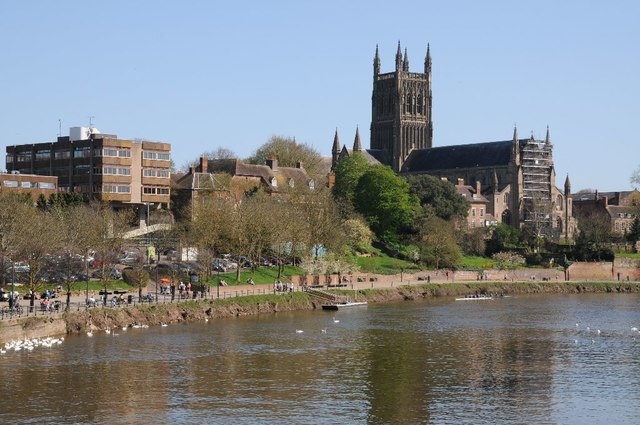 The River Severn and Worcester Cathedral