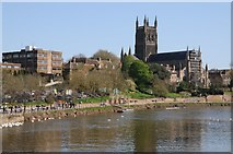 SO8454 : The River Severn and Worcester Cathedral by Philip Halling