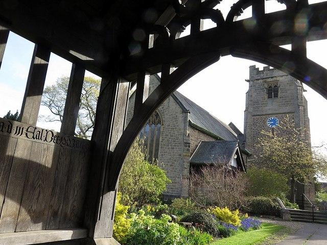 St Oswin's Church from lychgate