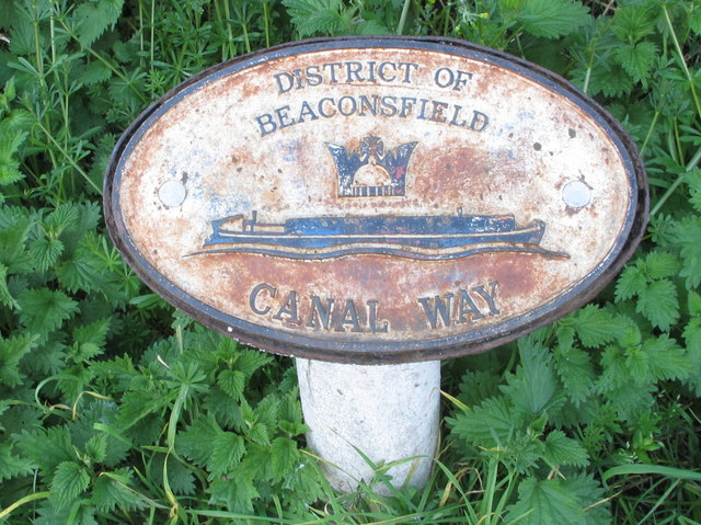 """""""District of Beaconsfield - Canal Way"""" sign at boundary"""