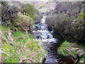 SE0908 : Waterfall on Rams Clough, Meltham by Humphrey Bolton