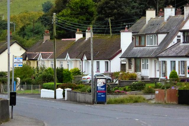 Bus Stop on the A2 Coastal Road at Glenarm