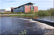 NS3421 : Weir, River Ayr by Billy McCrorie