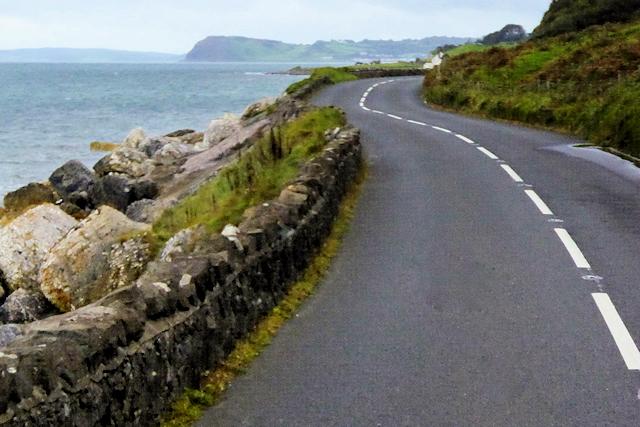 A2 Coast Road between Glenarm and Ballygalley