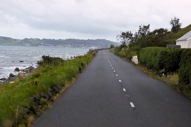 A2 Coast Road near Drumnagreagh