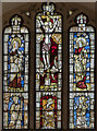 SK8500 : Medieval Stained glass window, St Mary's church, Ayston by Julian P Guffogg
