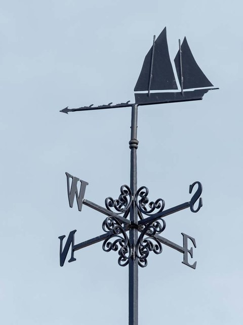 Weather Vane on Lossiemouth Library