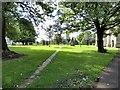 SJ9398 : St Peter's churchyard by Gerald England