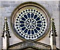 SJ9398 : Rose window (outside view) by Gerald England