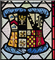 SK8500 : Heraldic Stained glass window, St Mary's church, Ayston by Julian P Guffogg