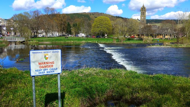 Weir on the Tweed at Peebles
