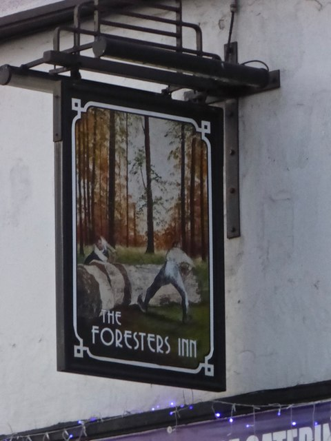 The sign of The Foresters Inn