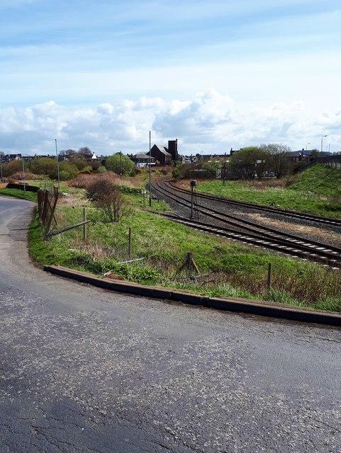 Railway sidings at Newton-on-Ayr