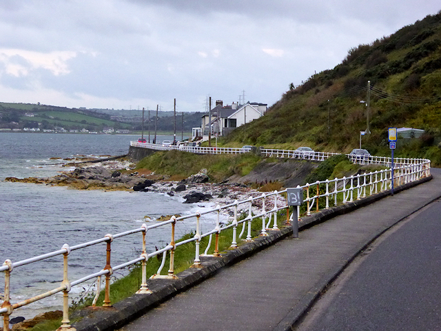 A2 Coast Road to the north of Larne
