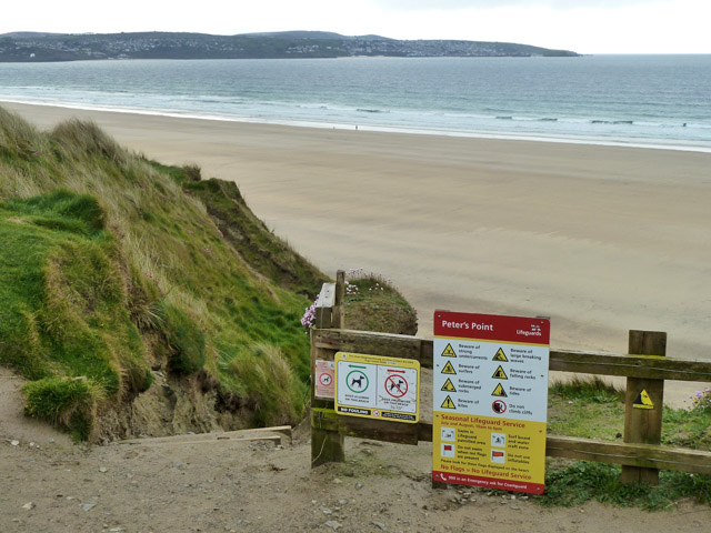 6f413f31305 Steps to beach by Peter s Point... © Robin Webster    Geograph ...
