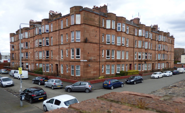 Red sandstone tenement, Ibrox
