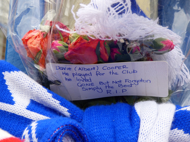 Davie Cooper floral tribute