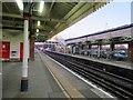 SU5606 : Platform 2, Fareham railway station by Peter Holmes
