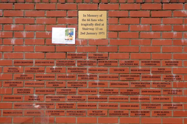 The 1971 Ibrox Disaster Memorial