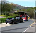 ST2589 : Queueing traffic at the edge of Pontymister by Jaggery