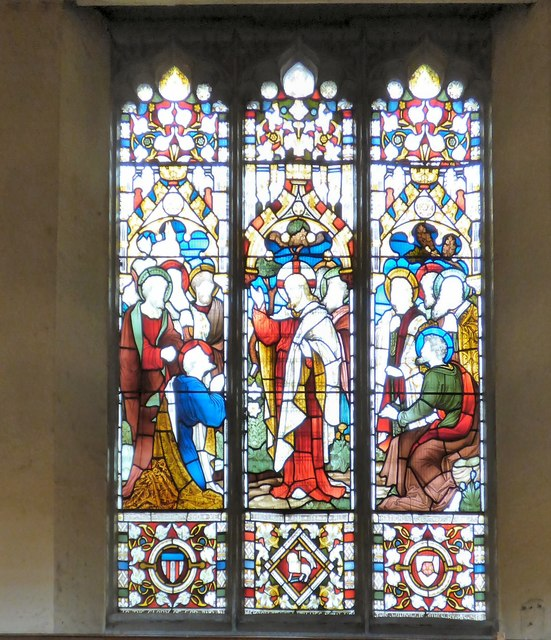 Stained glass in St Peter's Church