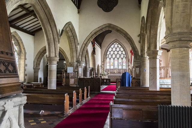 Interior, St Mary's church, Ashwell