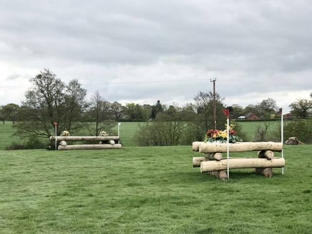 Corner and 'stick pile' on cross-country course