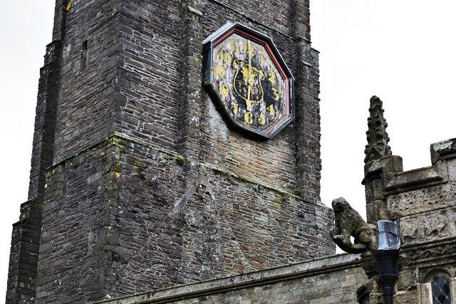 Launceston, St. Mary Magdalene's Church: The tower (detail)