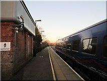 SU3521 : Platform 2, Romsey railway station by Peter Holmes