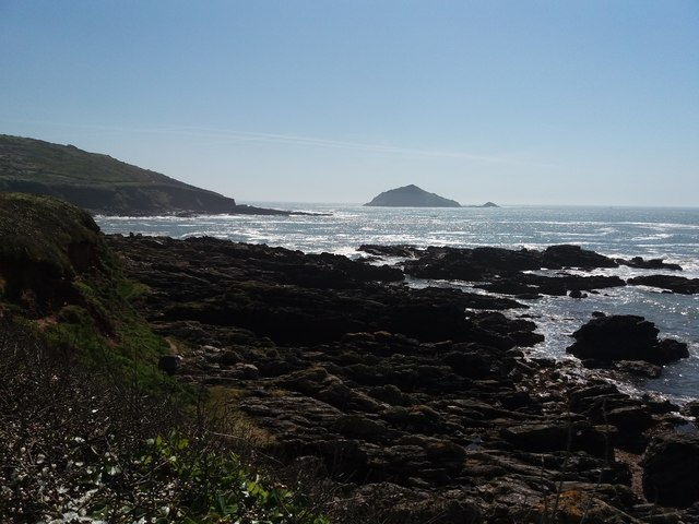 Heybrook Bay: out towards the Great Mewstone