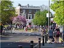 TQ4077 : London Marathon - gathering by Stephen Craven