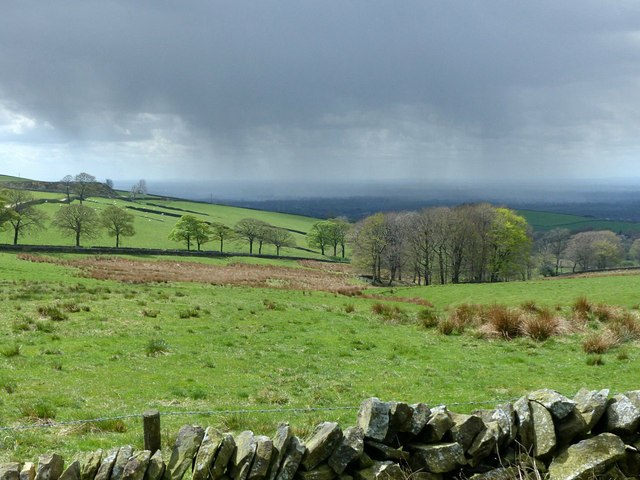 Squall over the Cheshire Plain